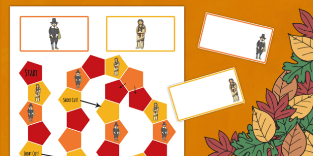 Thanksgiving Editable Board Game - games, activity, activities