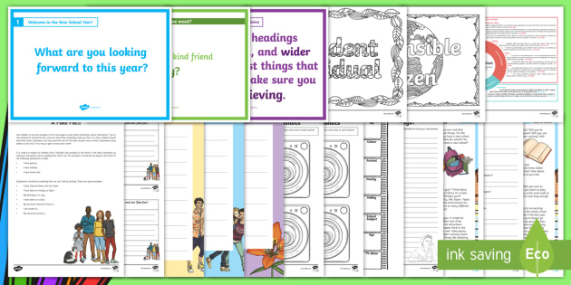 CfE Back to School Second Level Resource Pack - new class, getting to know you, back to school, first days activities,new school year, new term