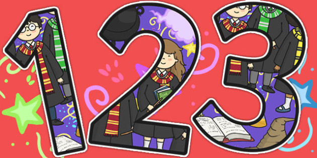 Wizard School Themed A4 Display Numbers - number, display, poster
