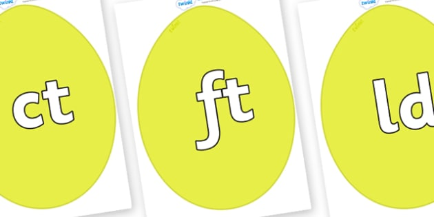 Final Letter Blends on Golden Eggs - Final Letters, final letter, letter blend, letter blends, consonant, consonants, digraph, trigraph, literacy, alphabet, letters, foundation stage literacy