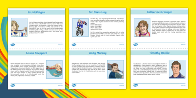 Scottish Olympians Information Sheets-Scottish
