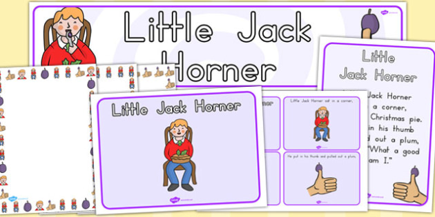 Little Jack Horner Resource Pack - australia, Little Jack Horner