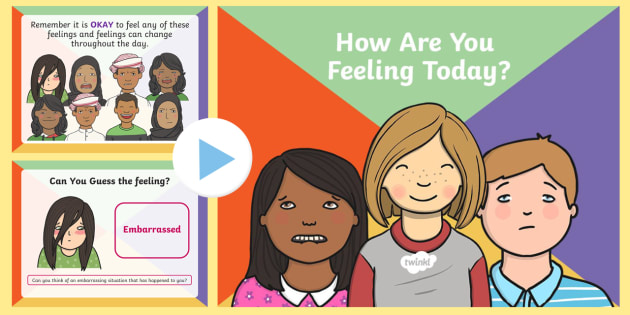 How Are You Feeling Today PowerPoint - Feelings, UAE, PowerPoint, emotions, All About Me.