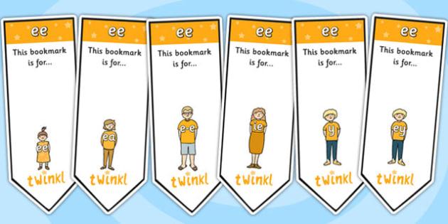 ee Sound Family Editable Bookmarks - ee sound family, editable bookmarks, bookmarks, editable, behaviour management, classroom management, rewards, awards