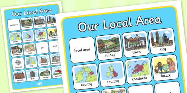 Our Local Area Word Grid - local, area, word, grid, word grid