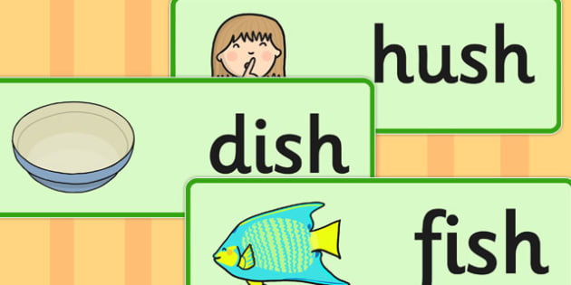 Final 'Sh' Sound Word Cards - final sh, sound, word cards, cards