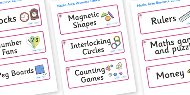 Cherry Tree Themed Editable Maths Area Resource Labels - Themed maths resource labels, maths area resources, Label template, Resource Label, Name Labels, Editable Labels, Drawer Labels, KS1 Labels, Foundation Labels, Foundation Stage Labels, Teaching