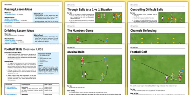 UKS2 Football Skills - football, PE, sport, exercise, KS2, UKS2, Key Stage 2, year 5, year 6, skills, physical education, ball skills, team sports