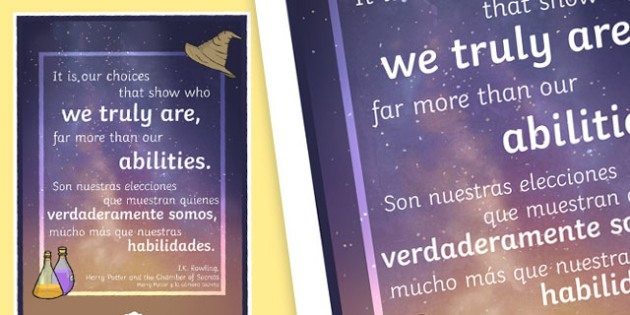 It Is Our Choices Motivational Poster Spanish Translation