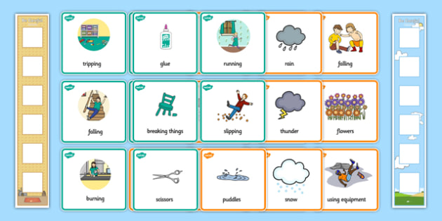 Indoors and Outdoors Child-Friendly Risk Assessment Pack - dangers, warnings, visual, prompts