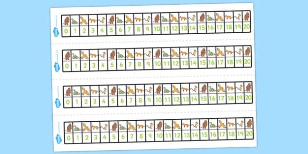 The Gruffalo Number Track 0-20 - gruffalo, number track, 0-20