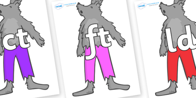 Final Letter Blends on Werewolf - Final Letters, final letter, letter blend, letter blends, consonant, consonants, digraph, trigraph, literacy, alphabet, letters, foundation stage literacy