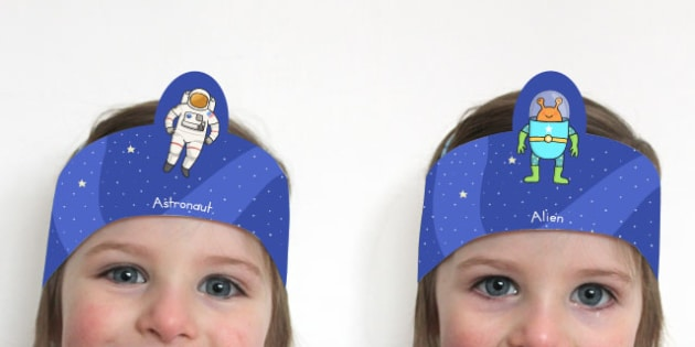 Astronaut and Alien Role Play Headbands - australia, role-play