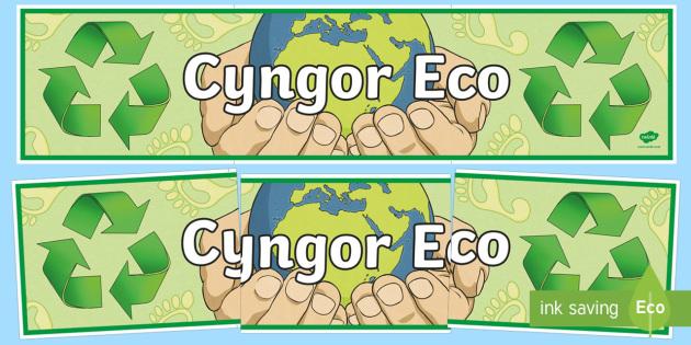 Baner Arddangosfa Cyngor Eco
