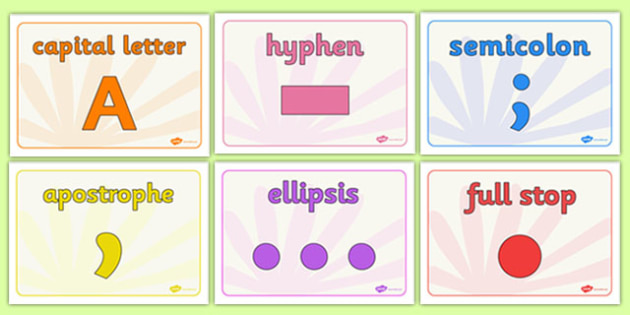 Editable Class Group Signs (Punctuation) - Group signs, group labels, group table signs, table sign, teaching groups, class group, class groups, table label, full stop, exclamation mark, punctuation, comma