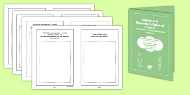 Rights of a Child Booklet Romanian Translation - romanian, rights, child, booklet, ks2, phsce, pshe, rights of a child
