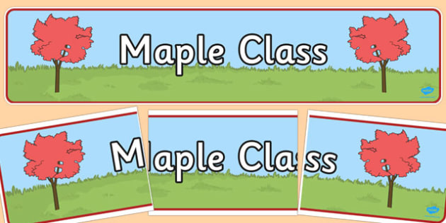 Maple Class Display Banner - maple class, display banner, display, banner