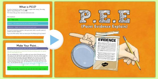 Point Evidence Explain PowerPoint - pee, p.e.e, point evidence explain, point, evidence, explain, powerpoint