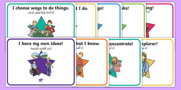 Star Themed Characteristics of Effective Learning Display Posters Arabic Translation-Arabic-translation