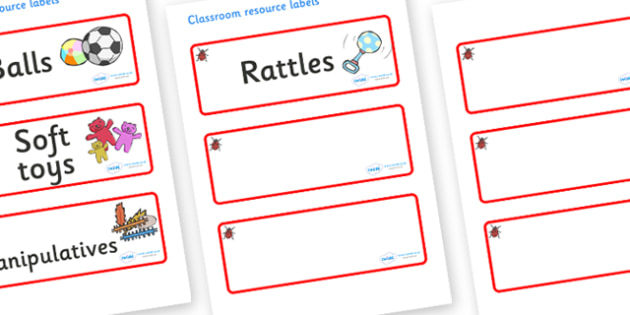Ladybug Themed Editable Additional Resource Labels - Themed Label template, Resource Label, Name Labels, Editable Labels, Drawer Labels, KS1 Labels, Foundation Labels, Foundation Stage Labels, Teaching Labels, Resource Labels, Tray Labels, Printable