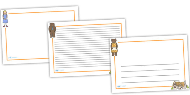 Goldilocks and the Three Bears Page Borders (Landscape) - page border, border, frame, writing frame, goldilocks and the three bears, goldilocks writing frames, goldilocks page borders, writing template, writing aid, writing, A4 page, page edge,