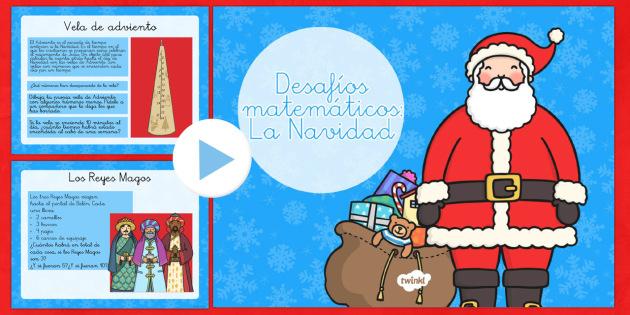 Desafíos matemáticos - La Navidad - números,mates, navidad, navideño, Spanish