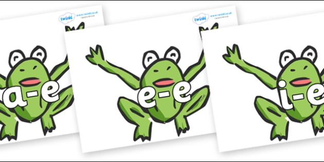 Modifying E Letters on Frogs - Modifying E, letters, modify, Phase 5, Phase five, alternative spellings for phonemes, DfES letters and Sounds