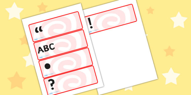 Punctuation Symbols Drawer Peg Name Labels - Punctuation, punctuation symbols, drawer peg name labels, name labels, punctuation name labels, peg label