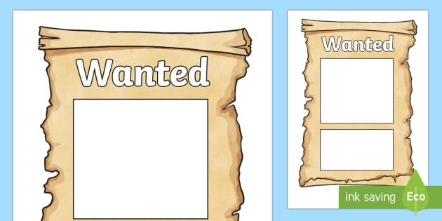 Wanted poster templates cowboy wanted poster template for Wanted pirate poster template