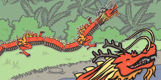 Split Pin Chinese Dragon - split pin, chinese, dragon, craft