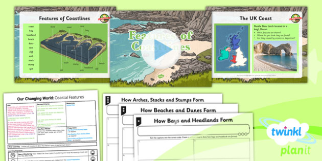 Geography: Our Changing World: Coastal Features Year 6 Lesson Pack 2