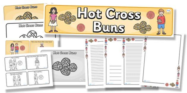 Hot Cross Buns Resource Pack - hot cross buns, resource pack, pack of resources, themed resource pack, hot cross buns pack, resources, nursery rhymes