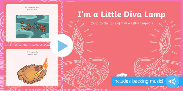 Diwali I'm a Little Diva Lamp PowerPoint