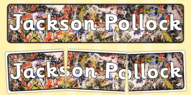 Jackson Pollock Display Banner - display, banner, jackson pollock