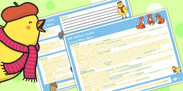 Chicken Licken KS1 Lesson Plan Ideas - lesson plan, ks1, ideas