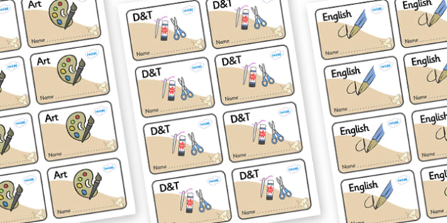 Kestrel Themed Editable Book Labels - Themed Book label, label, subject labels, exercise book, workbook labels, textbook labels