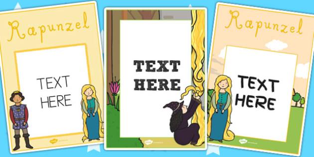 Rapunzel Editable Notes from Teacher - rapunzel, notes, teacher
