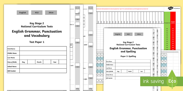 Year 6 Grammar, Punctuation and Spelling Test 1 Assessment Pack