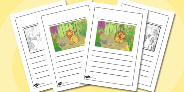 The Lion And The Mouse Story Writing Frames - story writing frame