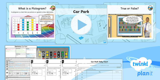 PlanIt Y3 Statistics Lesson Pack Charts and Graphs (3) - Statistics, pictogram, data, scale, 5:1, data handling, Interpret and present data using bar charts