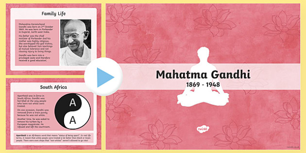 The Life of Gandhi PowerPoint