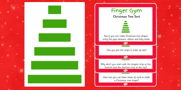 EYFS Christmas Tree Sort Finger Gym Resources - eyfs, christmas tree, sort, finger gym