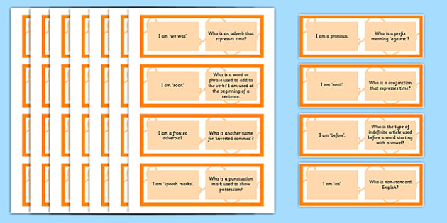 Vocabulary Grammar and Punctuation Class Loop Game Lower KS2