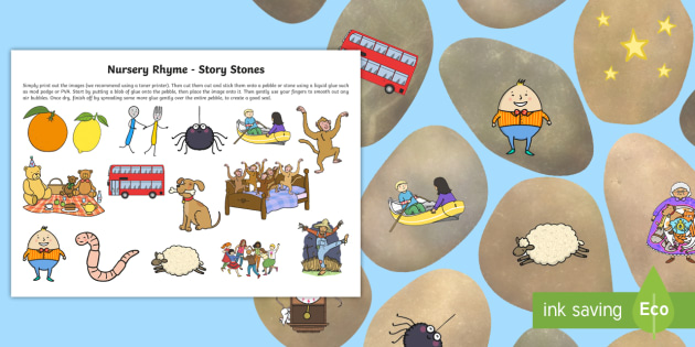 Nursery Rhyme Story Stones - stories, pebbles, poem