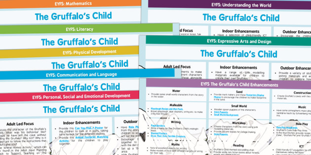 EYFS Lesson Plan and Enhancement Ideas to Support Teaching on The Gruffalo's Child - planning, Early Years, continuous provision, early years planning, adult led, Julia Donaldson, Gruffalo