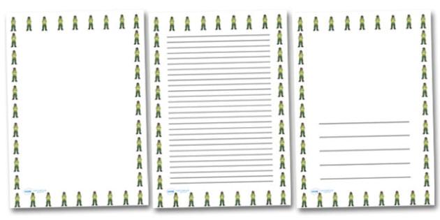 Female Paramedic Portrait Page Borders- Portrait Page Borders - Page border, border, writing template, writing aid, writing frame, a4 border, template, templates, landscape