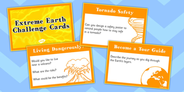 Extreme Earth Challenge Cards - extreme, earth, challenge, cards