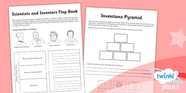 Science: Scientists and Inventors Year 2 Home Learning