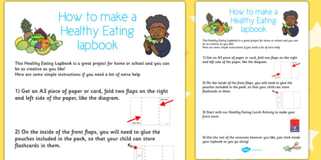 Healthy Eating Lapbook Instructions Sheet - lapbooks, instructions