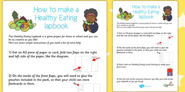 Healthy Eating Lapbook Instructions Sheet - lapbooks, instructions
